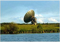 Радиотелескоп ТНА-1500 в радиоастрономическом пункте ОКБ МЭИ в Калязине. Диаметр зеркала 64 м.
