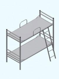 Металлическая двухъярусная разборная кровать